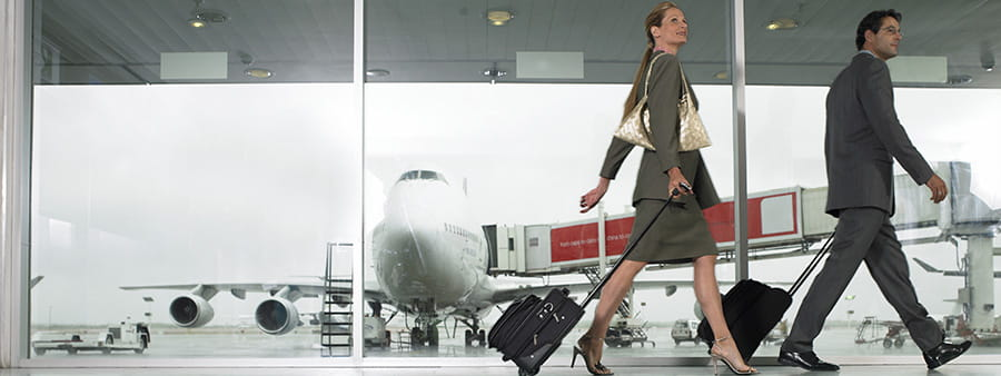 Business travellers in aiport